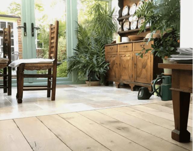 Wood floors installed in Kent kitchen area.