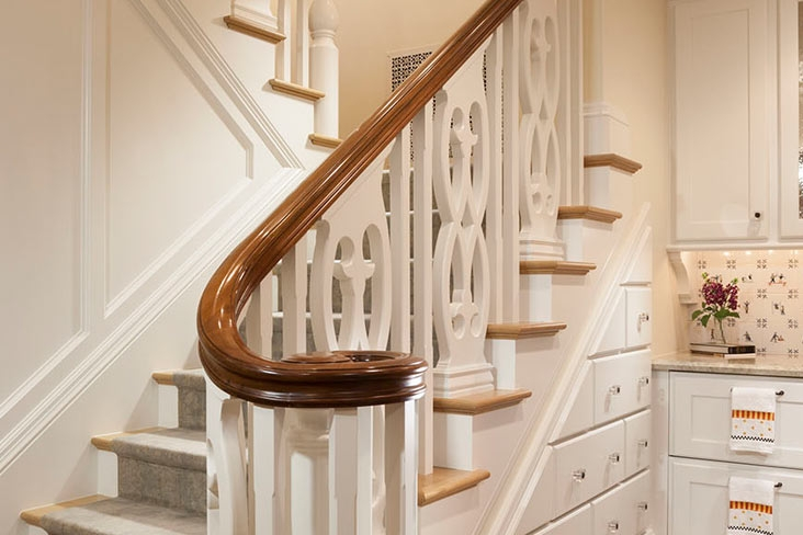 Trying To Decide On A New Banister Bishop Woodcraft | New Handrail For Stairs | Traditional | Wall Both Side | Contemporary | Mission Style | Wrought Iron
