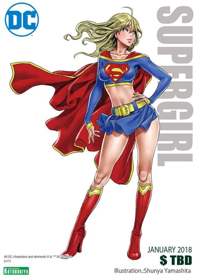 DC Comics Supergirl Bishoujo Illustration Shunya Yamashita Kotobukiya