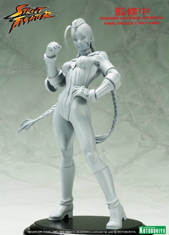 Unpainted Sculpt Street Fighter Cammy Version 2 Bishoujo Statue Kotobukiya