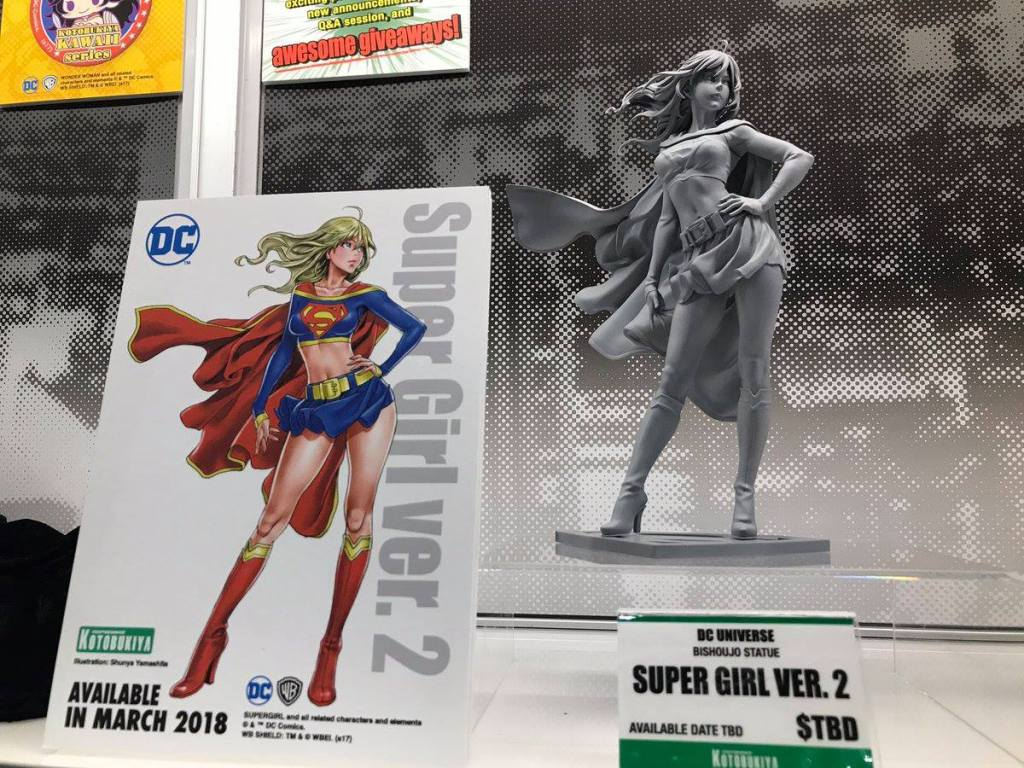 Unpainted Sculpt Supergirl Version 2 Bishoujo Statue Kotobukiya DC Comics SDCC 2017 Sneak Peek