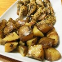 עוף ותפוחי אדמה בסגנון יווני בסיר לבישול איטי