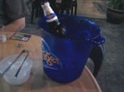 Hard times, desperate measures - ice bucket. :)