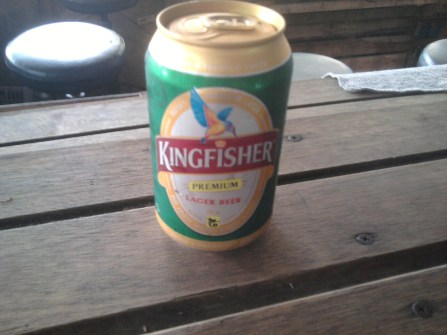 Indian Kingfisher beer.