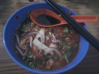 The world famous, delicious and slightly spicy Penang laksa! Mmmm...