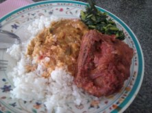 A version of nasi kandar.