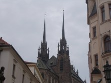 First look at the Cathedral of St. Peter and Paul in Brno.