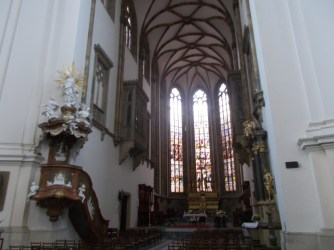 Interior of the Cathedral of St. Peter and Paul in Brno.