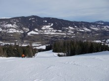 Kreischberg's valley descent is a nice black/diamond slope with a few variants.
