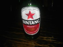 The most famous Indonesian beer - Bintang.