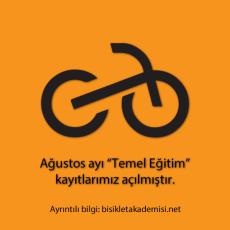Bisiklet Temel Eğitimi Ağustos Kayıtları Açıldı!
