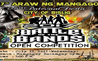 Battle of the Bands 2017 in Mangagoy, Bislig City