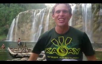 Kulas of BecomingFilipino in Tinuy-an Falls, Bislig City