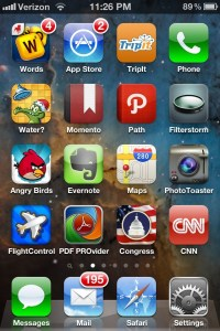 iPhone screen shot