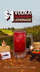Applebees Vodka Cranberry