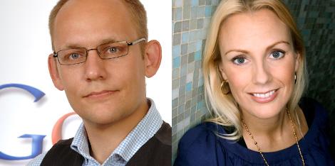 Nicklas Lundblad och Stina Honkamaa