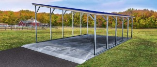 Single Slope Style Carport.