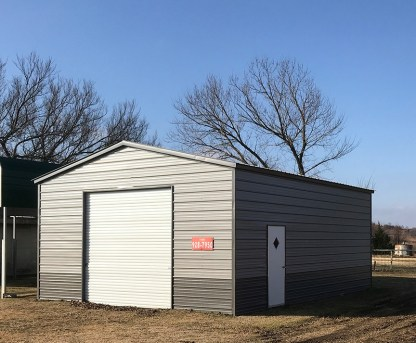 22x30x11 Vertical Roof Shop.