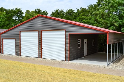 54 x 30 Agricultural Barn with Vertical Roof