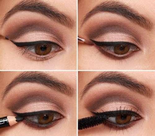 оттенки теней для карих глаз