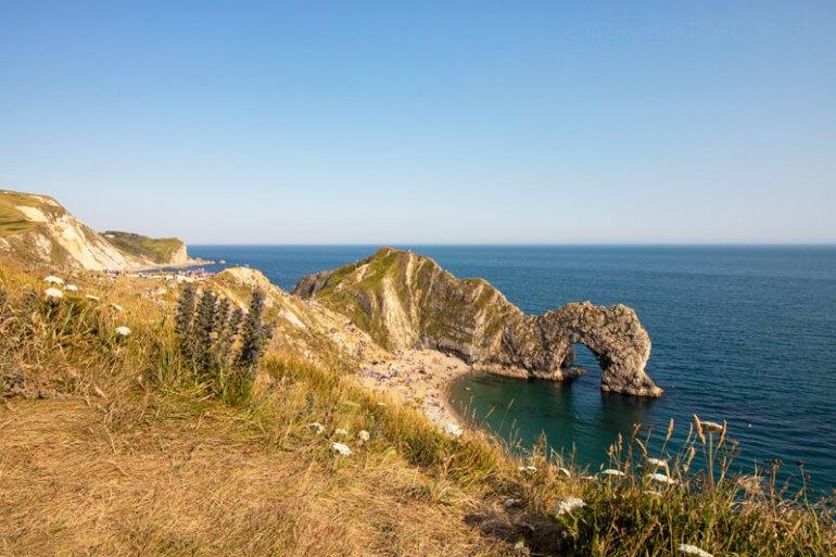 UK Post-lockdown staycation Durdle door Dorset