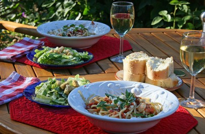 Dining al fresco - an alternative to dining out.