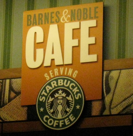 Fueling my Starbucks addiction at Barnes and Noble Cafe...