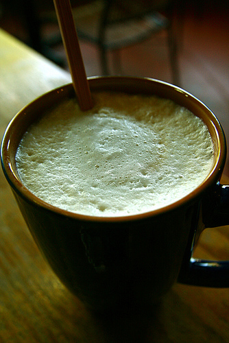 A little cafe au lait rounds out the French breakfast.