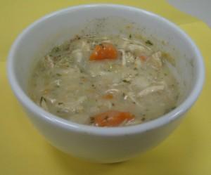 Homemade chicken and dumpling soup - a definite comfort food.