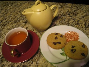 A little tea with my cookie please....
