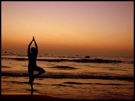 Yoga makes you happy. Om...Om..
