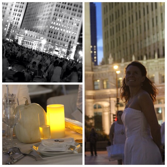 Photo collage diner en blanc 2013