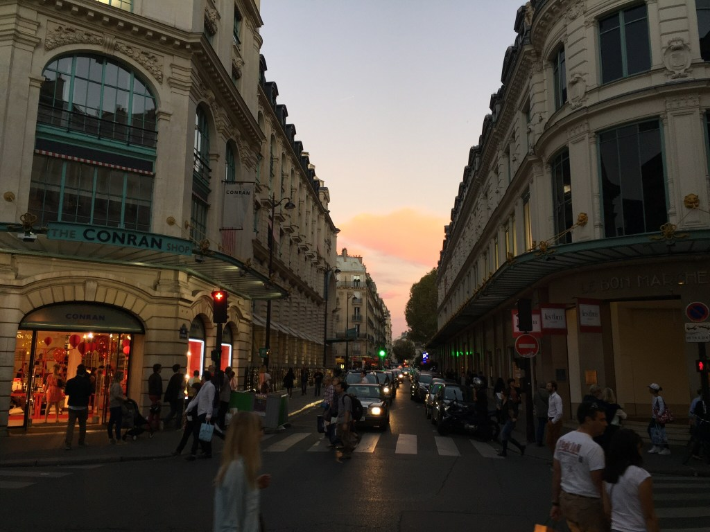 Paris Streets at Dusk