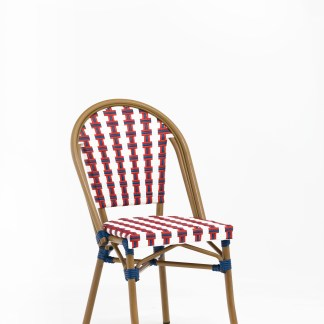 chaise-bistrot-restaurant-motif-colore-rouge-blanc