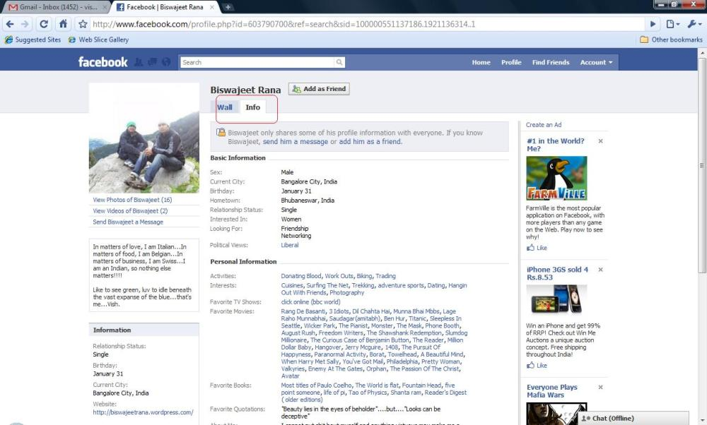 How to view the links and notes of people who are not on your Friend-list/Friends-of-Friends list on Facebook (2/3)