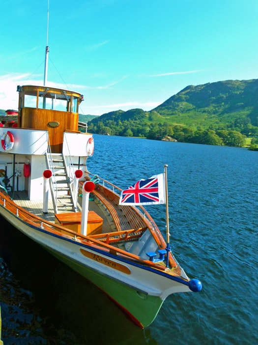 Kaiser, Lake District, Raven, Ullswater, ferry to Howtown, Pooley Bridge