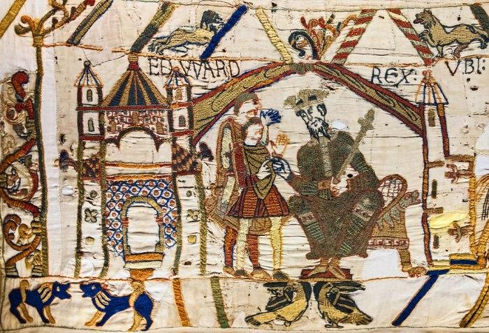 Bayeux, Tapestry, King Edward, Confessor, Godwinson, Normans, Saxons
