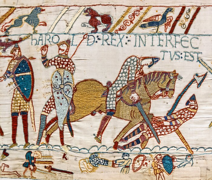 Bayeux Tapestry, Harold rex interfectus est