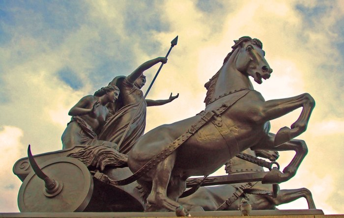 Boudicca, statue, London, Westminster