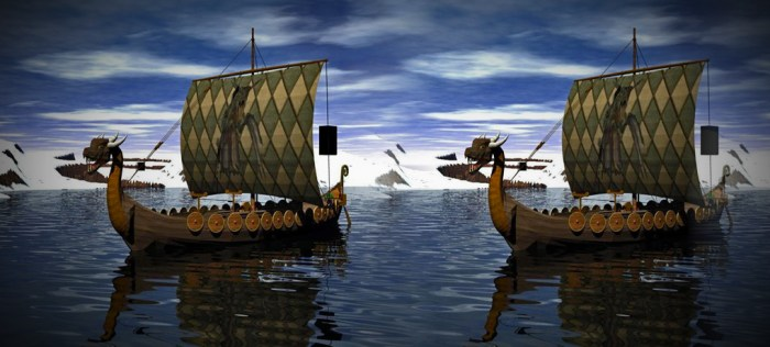 Viking, longships, Vikings