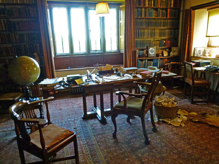 Ruyard Kipling, study, Bateman's