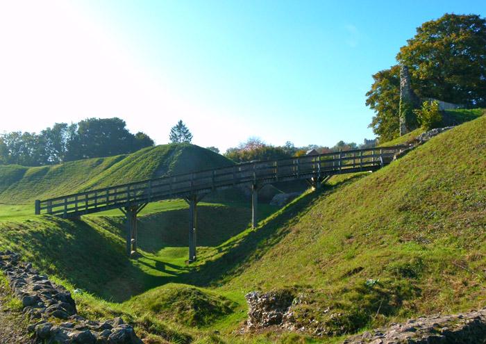 Castle Acre, moat, motte, bailey