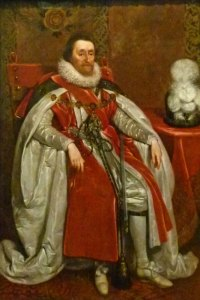 James Stuart, King James VI of Scotland and King James I of England and Ireland.