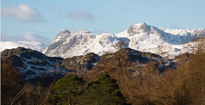 Langdale Pikes, view
