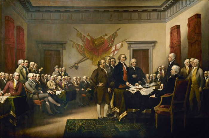 Declaration of Independence by John Trumbull, the Enlightenment