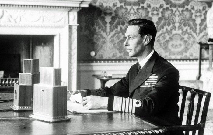King George VI, radio broadcast, Second World War