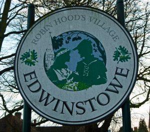 Edwinstowe, village sign