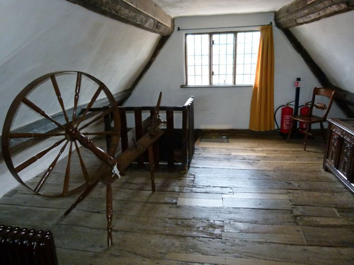 The attic at Boscobel House