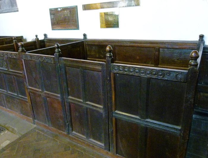 Box pews, St Andrew's, Dent