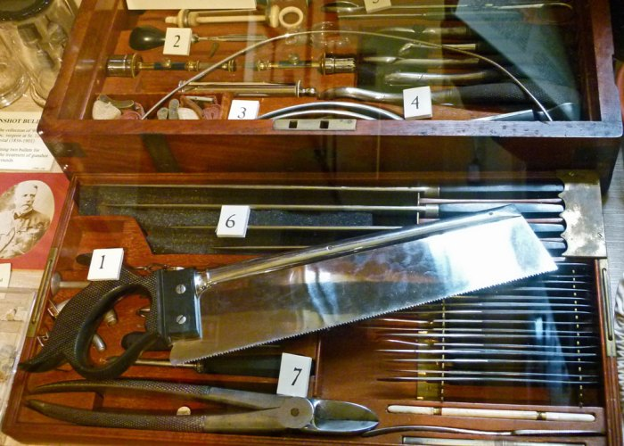Victorian surgeon's instruments